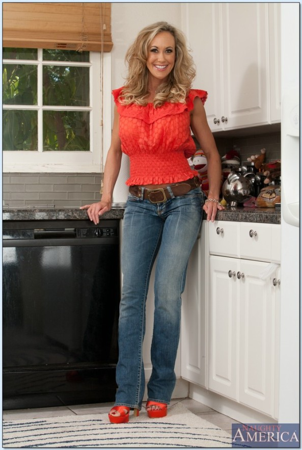 brandi love legs in jeans and heels