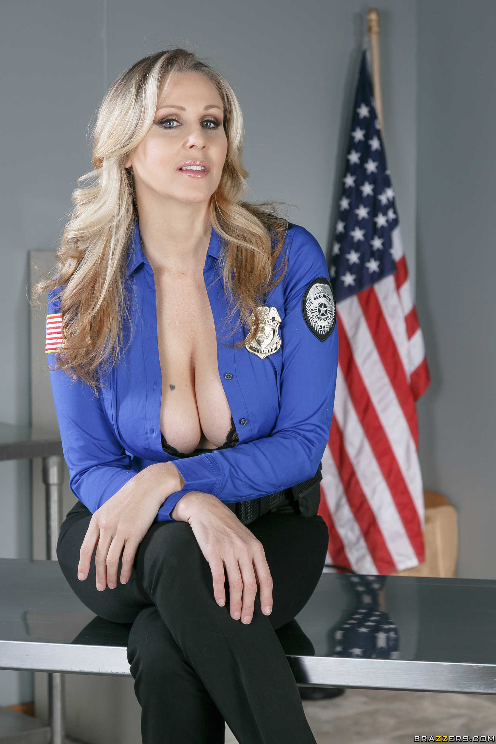 Female mature police officer loves getting off 6